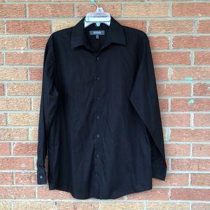 Kenneth Cole Reaction Black LS Button Shirt M
